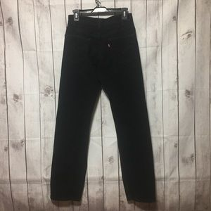 Levis 505 Jeans 30x32 Regular Straight Black Denim